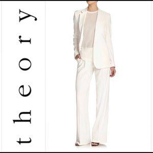NWOT Theory Ivory White Striped Suit Set Sz. 2